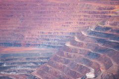Layers Open cut mine of mineral deposits Stock Photography