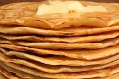 Layers of pancakes Stock Photos