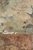 Layers of peeling plaster and paint wall Stock Photography