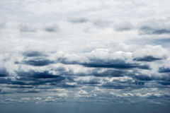 Layers of rainy clouds. Multiple layers of ominous storm clouds Royalty Free Stock Photo