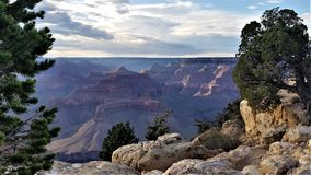 Sunlit redwall limestone in the Grand Canyon royalty free stock photography