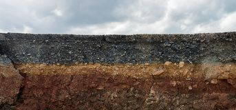The layers of road. Un-focus image Stock Photography