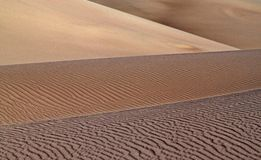 Layers of Rolling Dunes, Great Sand Dunes Royalty Free Stock Image
