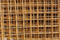 Rusty steel rod for construction Stock Photo
