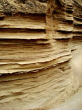 Layers of Sand. Hundreds of layers of sand, eroded away by wind Royalty Free Stock Images