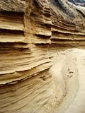 Layers of Sand. Hundreds of layers of sand created by erosion Royalty Free Stock Photo