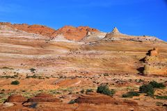 Layers of Sandstone at Coyote Buttes. Many colors and layers of sand stone at Coyote Buttes Royalty Free Stock Photo