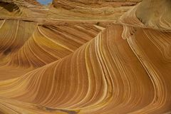 Layers of Sandstone part of the Wave. Many colors and layers of the Wave at Coyote Butts Utah/Arizona Royalty Free Stock Photos