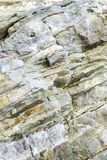 Layers of Sedimentary Ocean Rock stock images