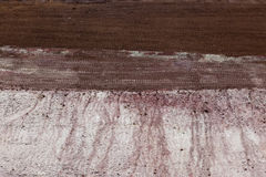 Layers of soil Stock Photo