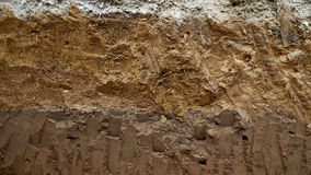 layers of soil and rock. Stock Photography