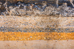 Layers soil and rock of traffic road, Layer soil paving, Layer o Stock Photography