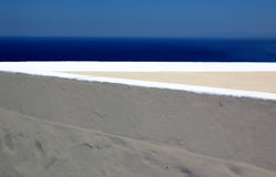 Layers. The view from a balkony in Cyclades, Greece Stock Photography