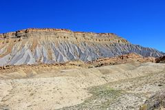 Layers of the Waterpocket Fold in Capitol Reef National Park, USA. Layers of the Waterpocket Fold in Capitol Reef National Park, Utah, USA stock photo