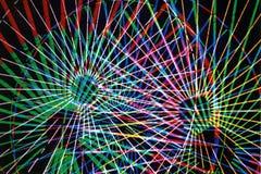 Layers Of Wheels. Multiple Exposure of Ferris Wheel royalty free illustration