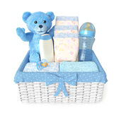 Layette for baby boy Stock Image
