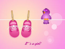 Layette for baby female Royalty Free Stock Images