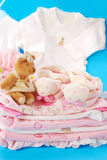 Layette for baby girl Royalty Free Stock Photos