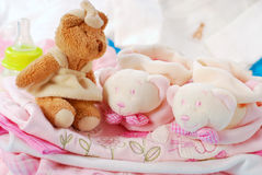Layette for baby girl Stock Images
