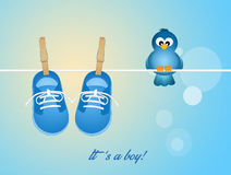 Layette for baby male Stock Images