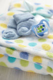 Layette for newborn baby boy Stock Photography
