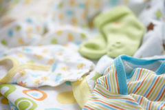 Layette for newborn baby boy Royalty Free Stock Photos