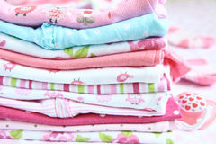 Layette for newborn baby girl Royalty Free Stock Image
