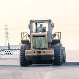 Laying asphalt special equipment Stock Photos