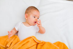 Laying baby Royalty Free Stock Image