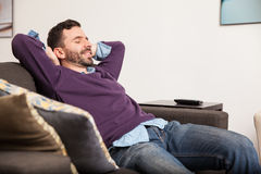Laying back and relaxing at home Stock Photography