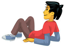 Laying on back teenager Royalty Free Stock Photo