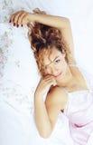 Laying beauty Stock Photo