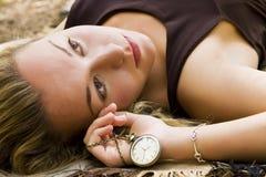 Laying Beauty Stock Photography