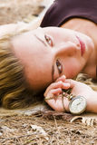 Laying beauty stock images