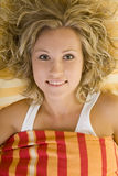 Laying in bed Royalty Free Stock Photo