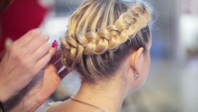 Laying braids using studs Stock Photos