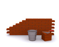 Laying bricks Royalty Free Stock Image