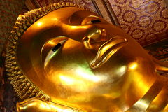 Reclining Buddha. In Bangkok Royalty Free Stock Image