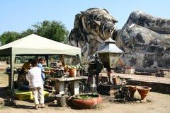 Laying buddha statue in Ayutthaya Royalty Free Stock Image