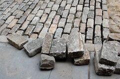 Laying Cobblestones Royalty Free Stock Photography
