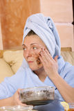 Laying face pack Stock Images