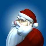 Laying a finger aside of his nose. Santa 2010 Royalty Free Stock Photo