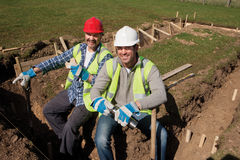 Laying Foundations Stock Photo