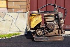 Laying fresh asphalt Royalty Free Stock Photography