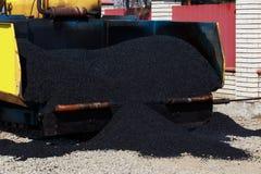Laying fresh asphalt Royalty Free Stock Image