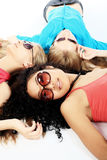 Laying girls Stock Images