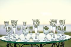 Laying of glasses Royalty Free Stock Images