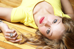 Laying on Her Back Stock Photos