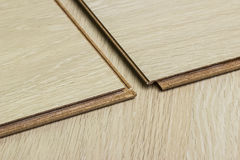 Laying laminate Royalty Free Stock Images
