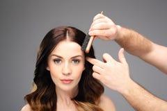 Laying, modeling hair Royalty Free Stock Photo